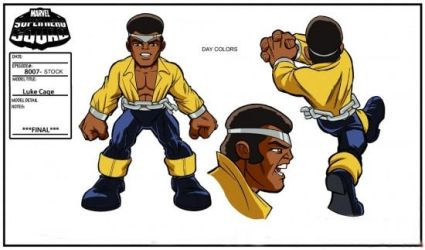 Luke Cage Model Sheet by Nes44Nes