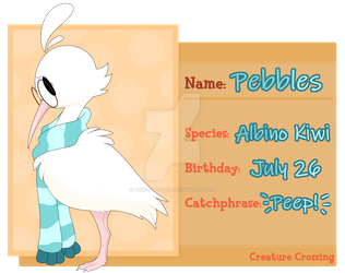 CC|| Pebbles -- Villager Application by Anxious-Space