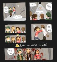 l4d + louis and teh witch by justduet