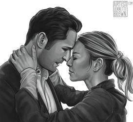 Lucifer x Chloe Fan Art by sugarpoultry