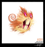 Raticate! Pokemon One a day! by BonnyJohn