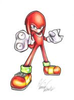 Knuckles the Echidna by AmaterasuOmikami