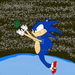 Sonic The Hedghog Catching Chaos Emerald  by phantomxV1