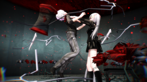 [MMD+Video] Unravel - Tokyo Ghoul by 01mikuxlen02