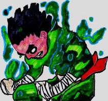 Rock Lee 5th Gate Unleashed by Tehlildevil