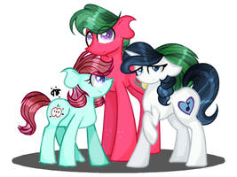 Rarity's Kids + Speedpaint by ThePegasisterPony
