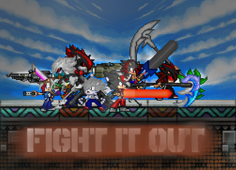 .:-FIGHT IT OUT-:. by SuperSonic124TH
