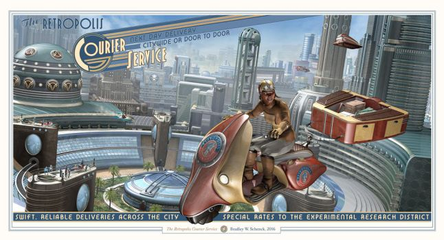 The Retropolis Courier Service by BWS