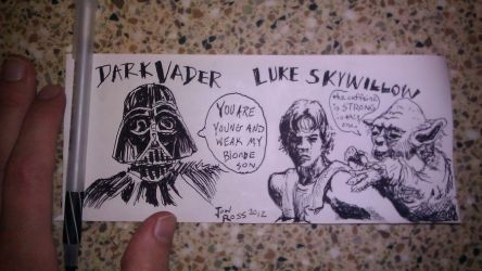Dark Vader Luke Skywillow by jonrosscomics