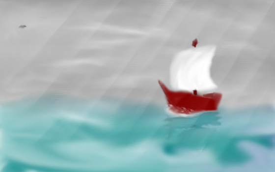 Boat on the Sea by Kyatric