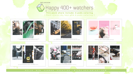 [ Share for you ] Happy 400+ watchers by BT2k3