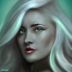 Madeline Juno - Digital Painting by aLi2k4