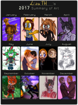 Summary of art 2017 by lizathehedgehog