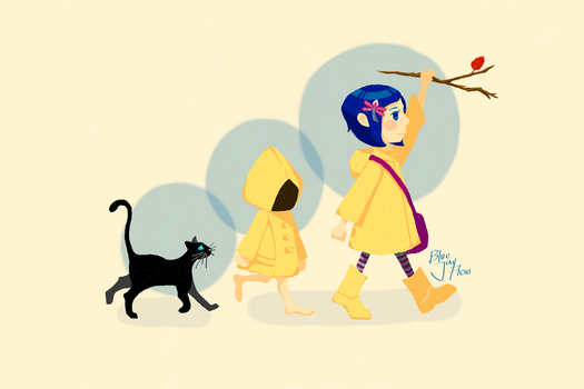 Little Nightmares x Coraline Crossover by BlueJayFlew