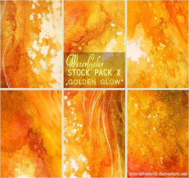 GOLDEN GLOW - WATERCOLOR STOCK PACK X by RoryonaRainbow