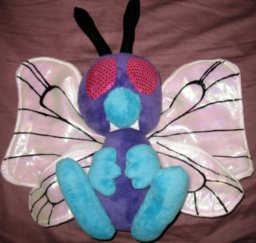 Butterfree Custom Plushie by killingxdance