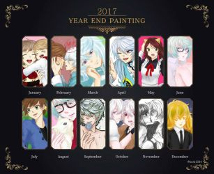 Year End Painting 2017 by vonWincott