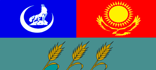 Flag of the Turko-Khanate Middle Plains by wolfmoon25