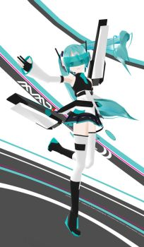 MMD Cyber Miku PMD Download by Xenosnake