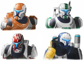 Republic Commando Delta Squad by spaceMAXmarine