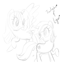 Free sketch for Stargold37 by CosmicPonye