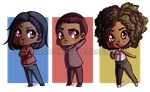 Chibi Companions by Gaymarriedinspace