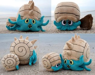 Omanyte and Omastar by Zareidy
