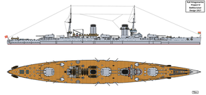 Austro-Hungarian Project IV Battlecruiser Design by Tzoli