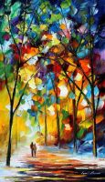 Christmas Aura by Leonid Afremov by Leonidafremov