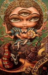 temperance alice tarot by cannibol
