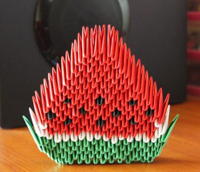 3D origami Watermelon by angie-hz
