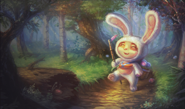 Little bunny teemo Minecraft pixel art by InfiniteMinecraftArt