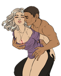 Couples Sketch (color)__KEARN and  ORALEE by BlackBirdInk