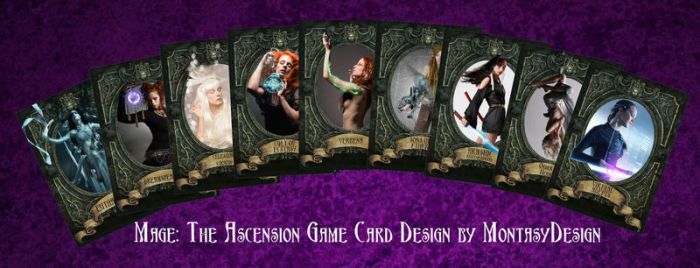 Unofficial Mage The Ascension game cards by Montasy