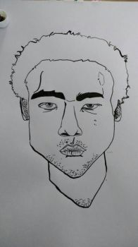 White Afro Donald Glover by sebdaw