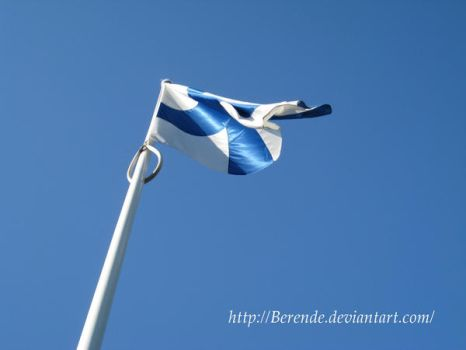 Finnish Flag by Berende