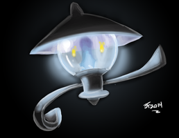 Lampent painting