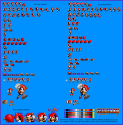Mighty in Sonic 1 Sprites by bennascar