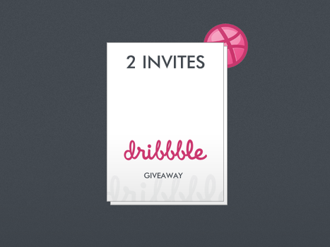 DRIBBBLE invite GIVEAWAY by samcouto