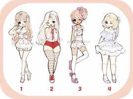 Fashion girl adopts [PRICES LOWERED BY 50%] by Purin-pyon