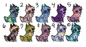 Batch of Canines OPEN 4/10 SET PRICE LOWERED by BebopSparkles