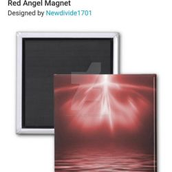 Red Angel Magnet by NewDivide1701