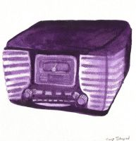 1950's watercolor radio by frost-rot