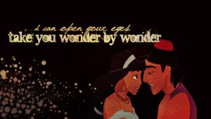 Aladdin and Jasmine Wallpaper by lulii13omg