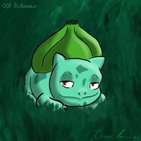Pokemon Challenge 001-Bulbasaur by midgear