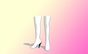 MMD High heel boots -Updated- by amiamy111