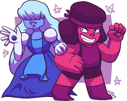 Ruby And Sapphire by dusknoirofficial