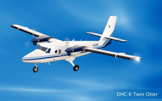 DHC-6 Twin Otter Vector by LuigiLA