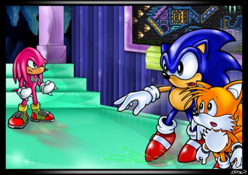Knuckles vs. Sonic and Tails by TheStiv