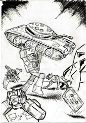 Transformers Action Comics 1 Brawn by JazzLuca